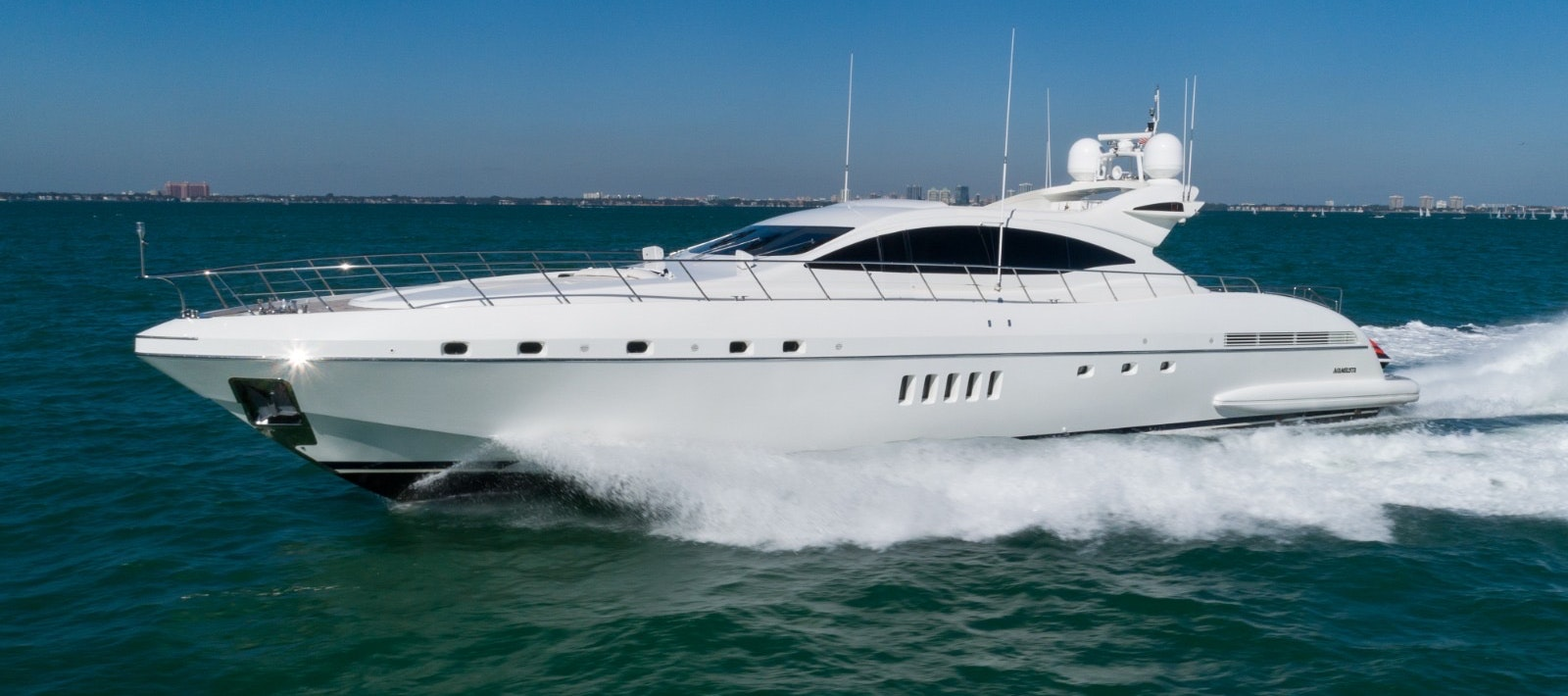 92 FT Mangusta yacht for rent in Miami