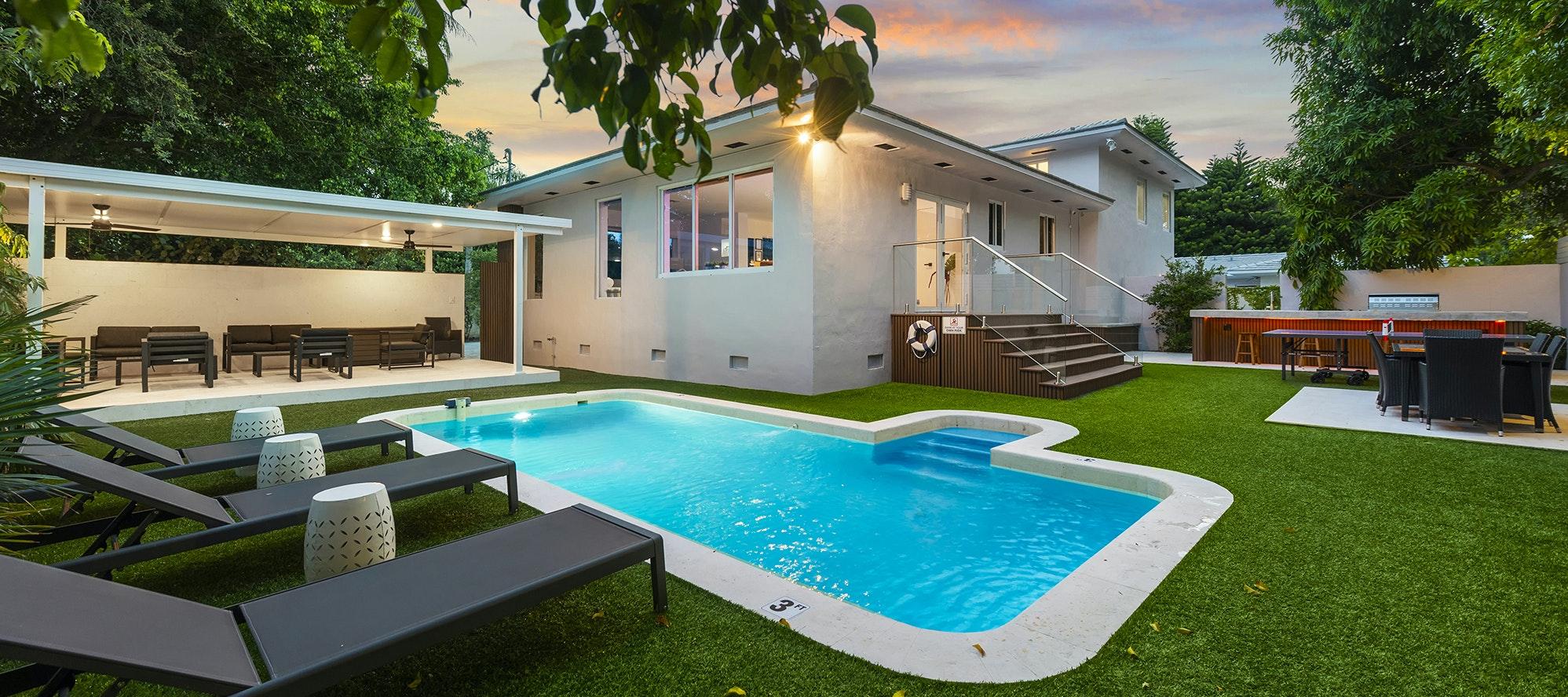 Villa Faith luxury rental in Miami Shores
