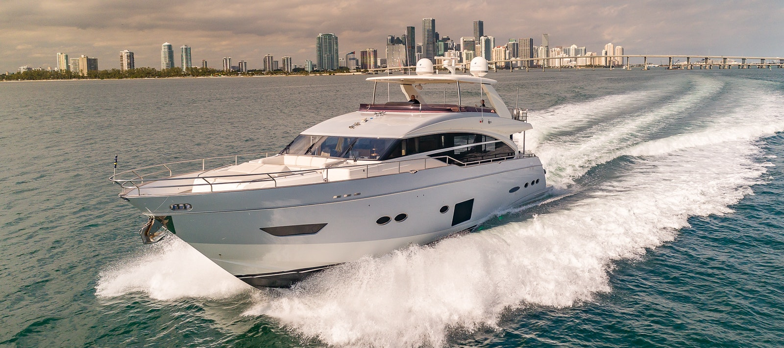 88 FT Princess yacht for rent in Miami