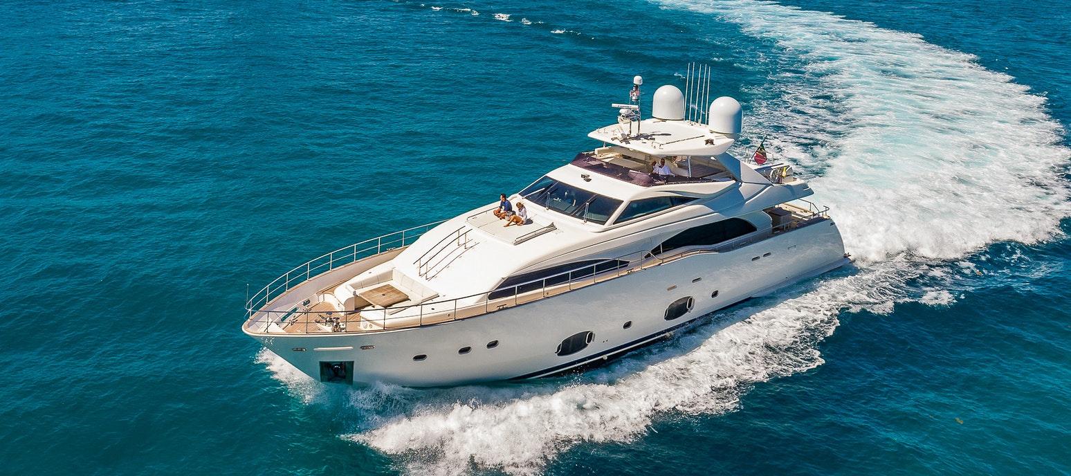 97 FT Ferretti yacht for rent in Miami